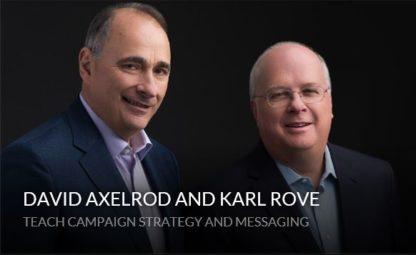 David Axelrod Karl Rove