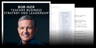 Bob Iger Teaches Business Strategy Leadership